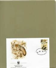 TIMBRE FDC  2 WWF ANIMAUX RENARDS/WWF STAMPS FDC ANIMALS FOXES