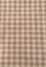 Checked purple 100% cotton fabric by the yard BTY and half -- 1 1/2 total