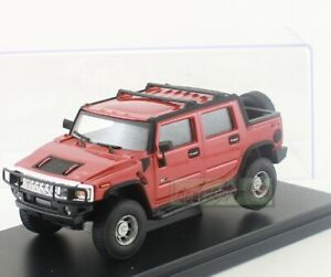 1:43 Scale Hongwell CARARAMA Hummer H2 SUT  PICKUP Diecast RED