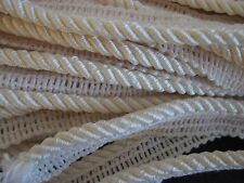 "cream 1/4"" rope cording with edge Conso 14 yards"