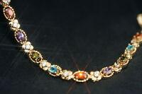 Created Mixstone & Diamond Bracelet 18cm/ 7.08inches