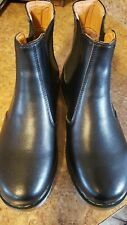 NEW The Original DR MARTENS Chelsea Women Black Leather Boots Size 10 NEW unisex