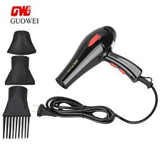 Professional 2000W Hairdryer Lightweight Hair Blow Dryer Salon Styler w/ 3Nozzle