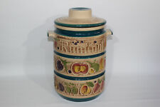 More details for vintage 1970 west germany large rumtopf jar fruits preserving pot and lid 825-32