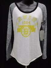 New Boston Bruins Womens Size M Medium Alyssa Milano Raglan Shirt  40 MSRP 7dee9821c