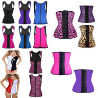 Women Latex Rubber Waist Training Cincher Underbust Corset Body Shaper Shapewear