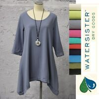 WATERSISTER USA TS03  SHELBY TUNIC  A-Line Curve Hem Top  S M L XL SPRING 2018