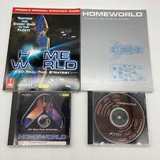 1999 Homeworld Windows PC Game 2 CD-ROM Set Sierra 3D Strategy Guide Briefing