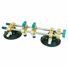 """6"""" Dual Vacuum Suction Cup Lifter with Steel Handle for Marble Glass Lifting"""