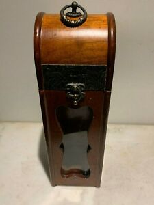 Vintage & Unique Wine Wood / Glass Case Holder Carrier Bottle Storage Crate Box.