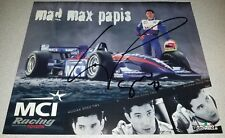 MAD MAX PAPIS SIGNED 8X10 PHOTO AUTOGRAPHED INDY CART CAR PROMO CARD