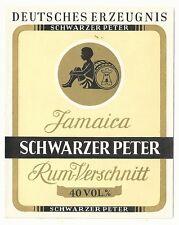 1930's Schwarzer Peter Jamaica Rum-Verschnitt Label - Germany