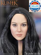 KUMIK 1/6 Long Black Hair Female Head Sculpt For 12'' PHICEN Figure 18-31 ❶USA❶