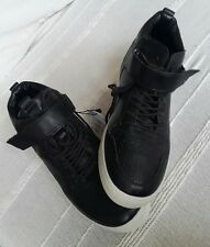 Zara black trainers with chunky white sole, size 40
