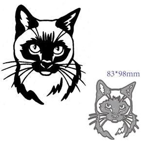 Animal Cat Metal Cutting Dies Stencils DIY Scrapbooking Embossing Album Craft