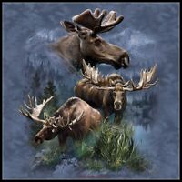 Moose Collage - Chart Counted Cross Stitch Pattern Needlework Xstitch craft DIY
