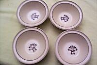 Pfaltzgraff VILLAGE  Berry Dessert Bowls Castle Mark  Set of 4