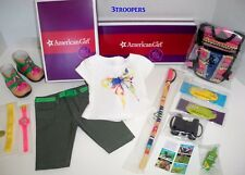 AMERICAN GIRL LEA CLARK  HIKE OUTFIT AND HIKE ACCESSORIES SET NEW /BOXES