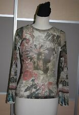 SAVE THE QUEEN, Luxus Shirt mit Madonna Motiv, Gr. 38, TATOO - SHIRT, EDEL