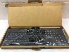 New HP TPC-C001K Business USB Slim Smartcard CCID Keyboard Black 911502-001