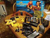 Vintage 1989 Mattel Hot Wheels Light Speeders Challenge Race Track Cars set