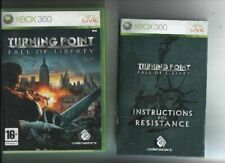 Turning Point: Fall of Liberty (2007) XBOX 360 Juego-con Manual
