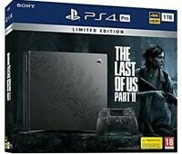 LIMITED EDITION THE LAST OF US PART II 2 PS4 PRO 1TB CONSOLE DUALSHOCK NEW