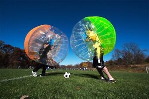 Inflatable Bubble Bumper Body Ball for Football Soccer and Outdoor Fun !