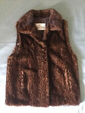 VTG Valentino Dyed Leopard Mink fur brown made in italy