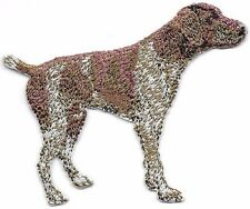 """2 5/8"""" x 3 1/8"""" German Shorthaired Pointer Dog Breed Embroidery Patch"""