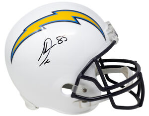 Antonio Gates Signed L.A. Chargers Full Size Throwback Replica Helmet BAS ITP