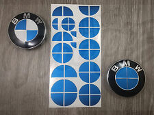 FULL BLUE METALLIC Badge Emblem Overlay WRAP FOR BMW TRUNK RIMS @FITS ALL BMW@