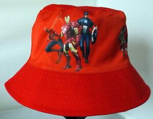 Children's Cotton Bucket Hat - Avengers - Red