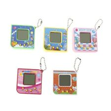 Virtual Digital Pet Electronic Game Machine With Keychain Cute Square Shape LCD