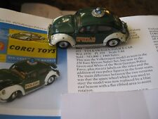 CORGI  492  VW EURO POLICE ORIGINAL PLAYWORN STILL GOOD AS SHOWN IN REPRO  BOX