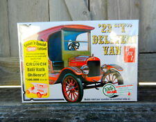 "AMT ERTL 1923 FORD ""MODEL T"" DELIVERY VAN 1:25TH SCALE PLASTIC KIT W/NEW DECALS"