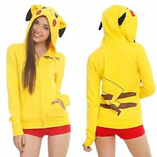 POKEMON PIKACHU COSPLAY HOODIE BIOWORLD LICENSED OFFICIAL AUTHENTIC $55 NWT NEW