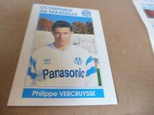 carte postale football PHILIPPE VERCRUYSSE dédicace om ligue champions 1990 1991