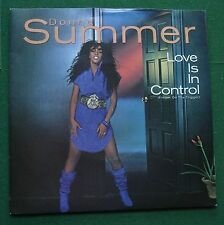 """Donna Summer Love is In Control (Finger On the Trigger) Warner Bros 7"""" Single"""