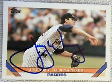 San Diego Padres Jeremy Hernandez Signed 1993 Topps Card Auto