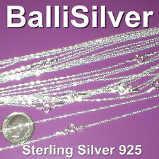 """20 pcs Sterling Silver 925 Fine Twisted SINGAPORE Chain Necklaces 10x16"""" 10x18"""""""
