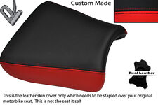 RED & BLACK CUSTOM FITS SUZUKI GS 1200 SS 01-02 FRONT LEATHER SEAT COVER