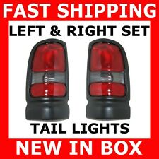 NEW TAIL LIGHTS 94-01 DODGE RAM PICKUP PAIR SET BOTH SIDES REAR BRAKE STOP LAMPS