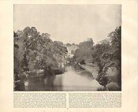 1894 Vittoriano Stampa ~Warwick Castle~ Forti ( Testo