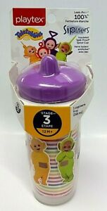 NWT Playtex Sipsters Stage 3 Teletubbies Insulated Spout Cup 9 Oz BPA FREE