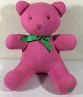 Ralph Lauren Polo Pink Teddy Bear Plush Stuffed Animal Green Bow Nursery Deco