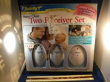 New Safety 1st Deluxe Baby Monitor Gift Set- 2 Receivers & Base Unit NIB