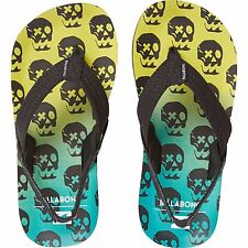 2016 NWOB BOYS BILLABONG STOKED KIDS SANDALS $20 US 9 lime