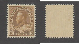 MNH Canada 10 Cent KGV Admiral Stamp #118 (Lot #20114)
