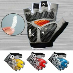 Sports Gloves GEL Silicon Padded Anti-Slip For Gym Fitness Weight Lifting